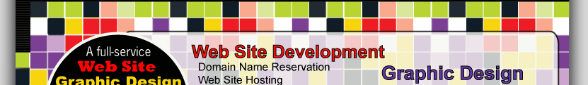 Domain Name Reservation, Web Site Hosting, e-commerce, Audio and Video Streaming, Custom Web Development, Search Engine Submission, Web Site Maintenance, Web Site Marketing